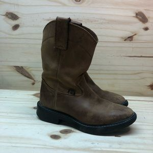 Justin Boots Shoes - Justin Leather Boots.  Kids size 11.5